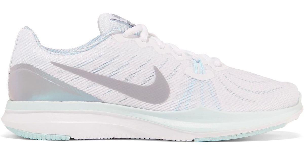 d6efe342ee079 Lyst - Nike Free Tr 7 Mesh Sneakers in White