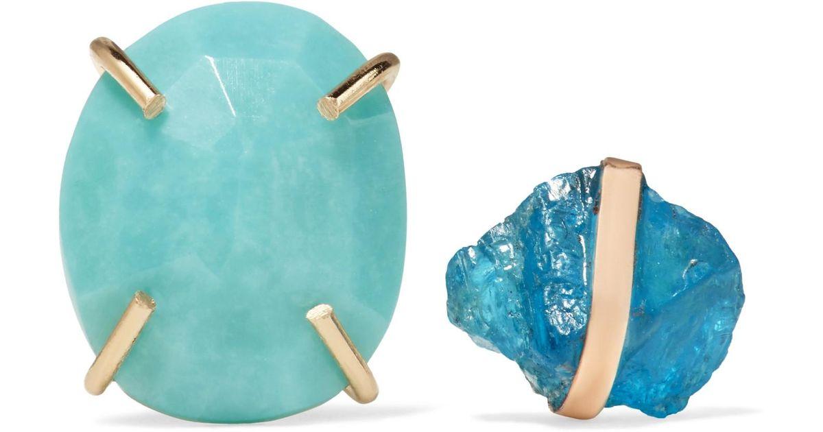 Melissa Joy Manning 14-karat Gold, Apatite And Turquoise Earrings