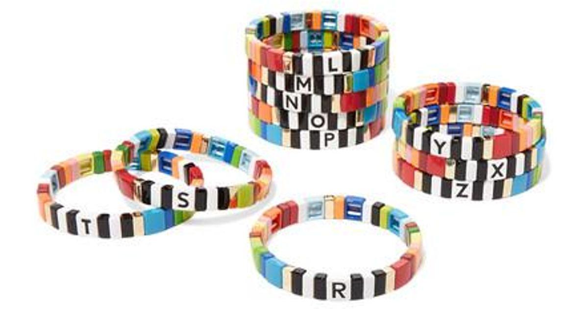 Assoulin Emaille Roxanne Armband Soup Multicolor Mit Alphabet kOiPXuTZ