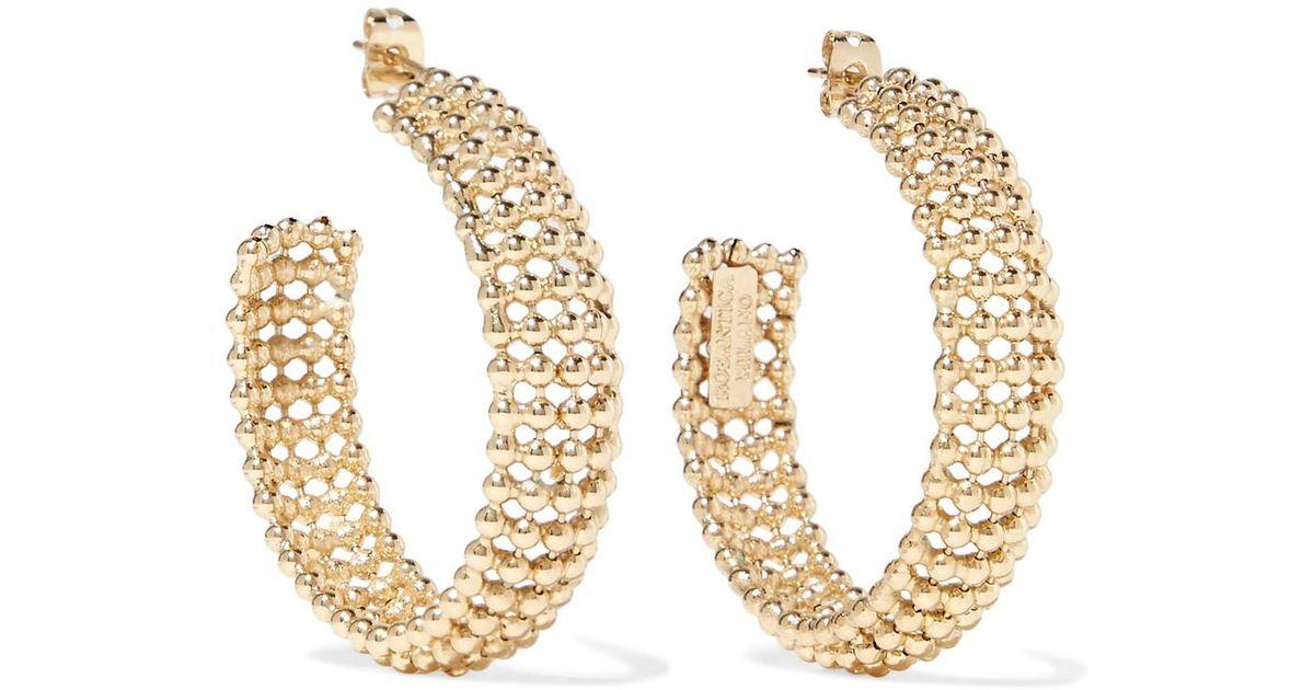 Rosantica Vita Gold-tone Hoop Earrings Dp1AcyyQtT