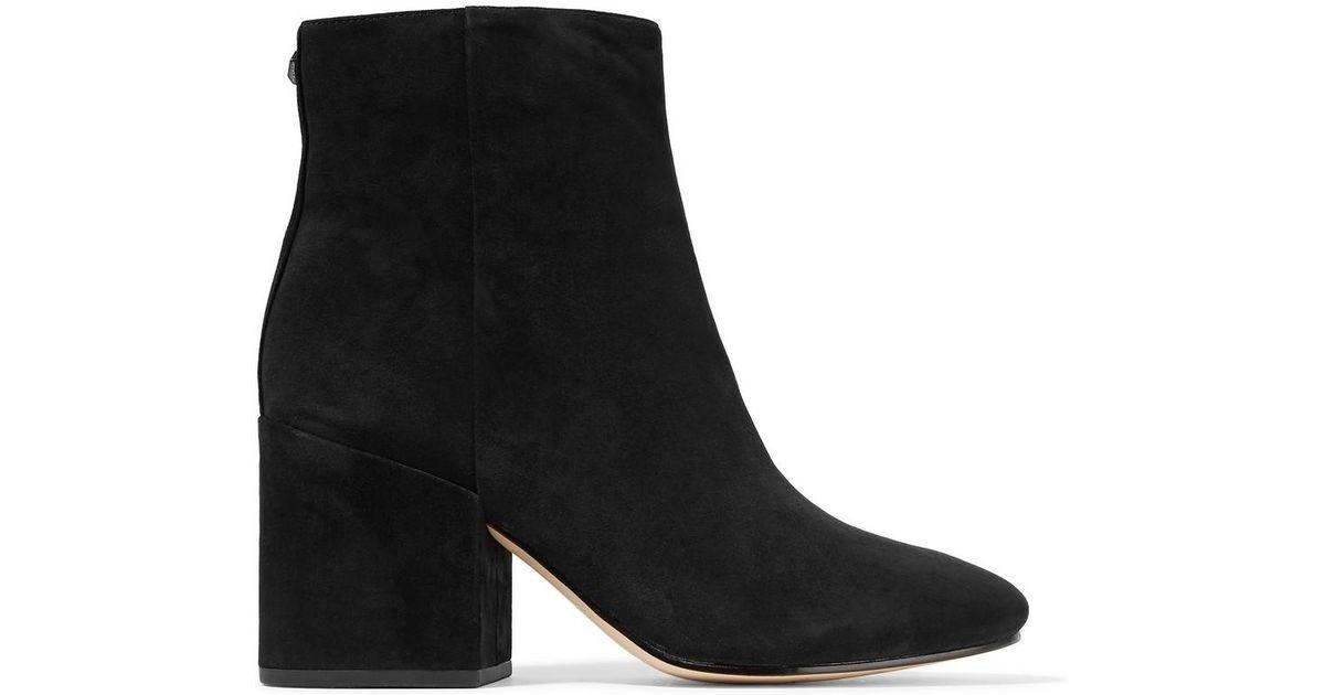 8cf2730bdbbe1 Lyst - Sam Edelman Taye Suede Ankle Boots in Black