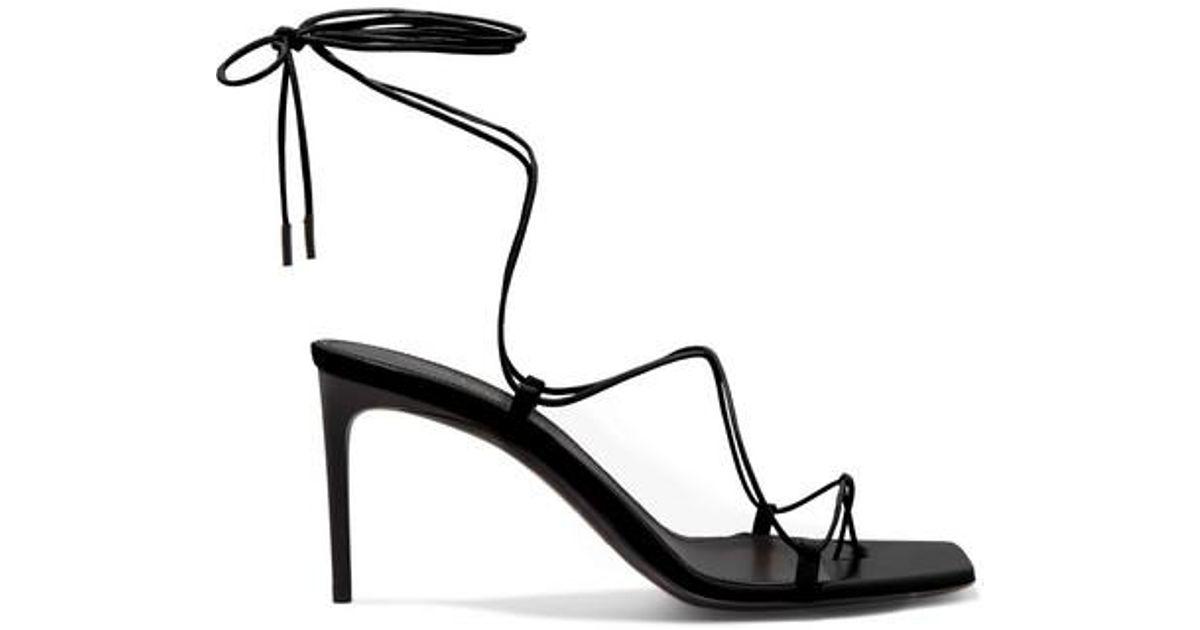 Laurent Paris Black Minimalist Saint Leather Sandals thQsrd