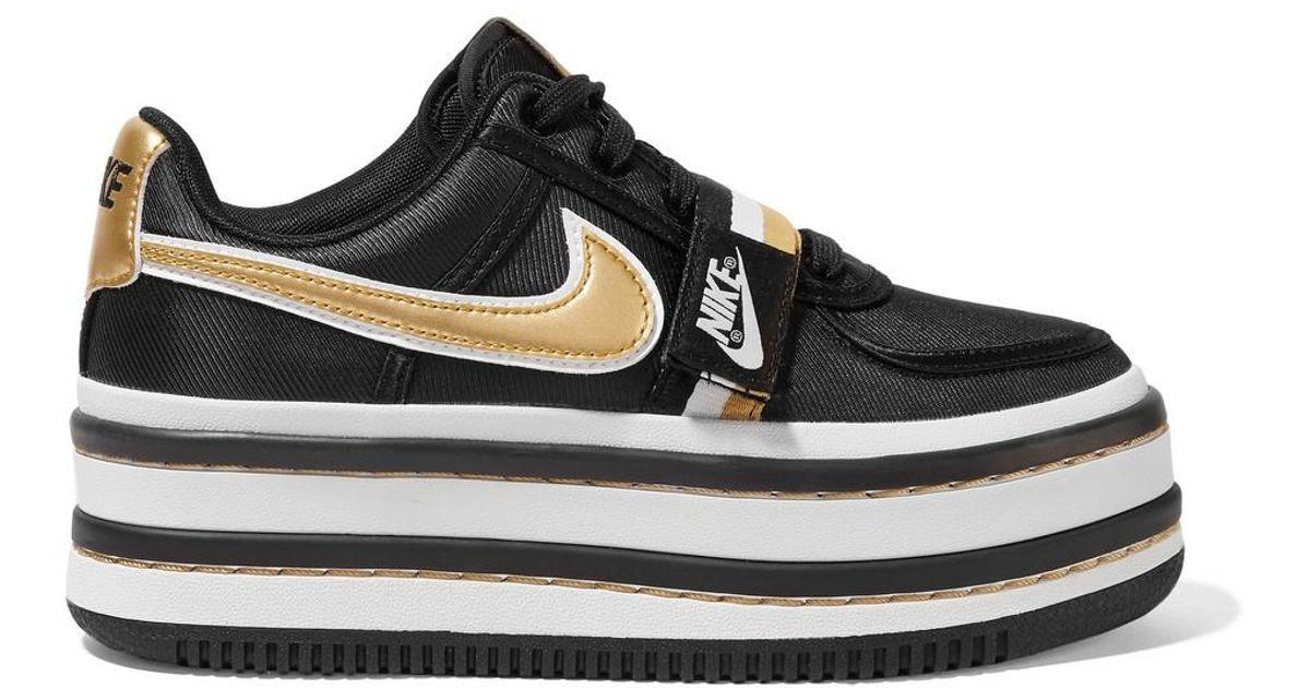 046de52a8fac Lyst - Nike Vandal 2k Metallic Faux Leather-trimmed Faille Platform  Sneakers in Black