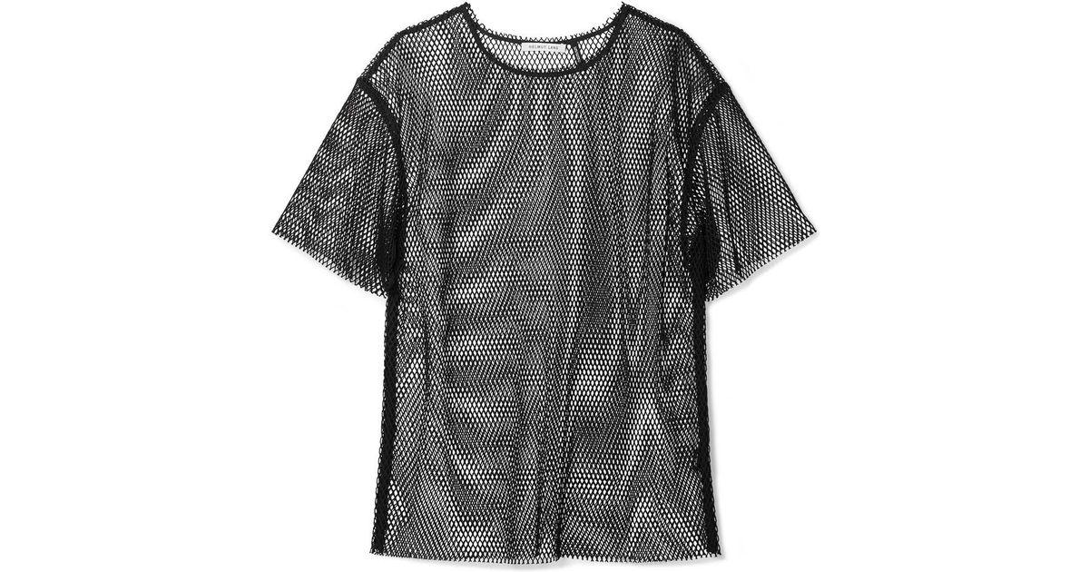 0270d996a1d3 Helmut Lang Courtney Fishnet T-shirt in Black - Lyst