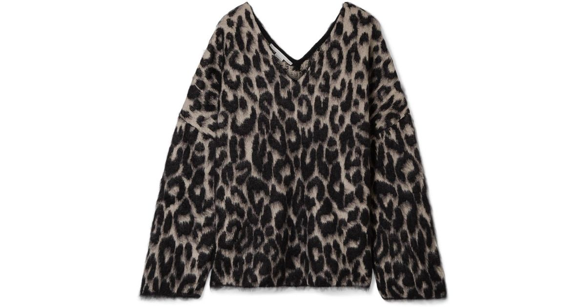Leopard-print Cotton-blend Sweater - Leopard print Stella McCartney Outlet Pictures GWeucr7