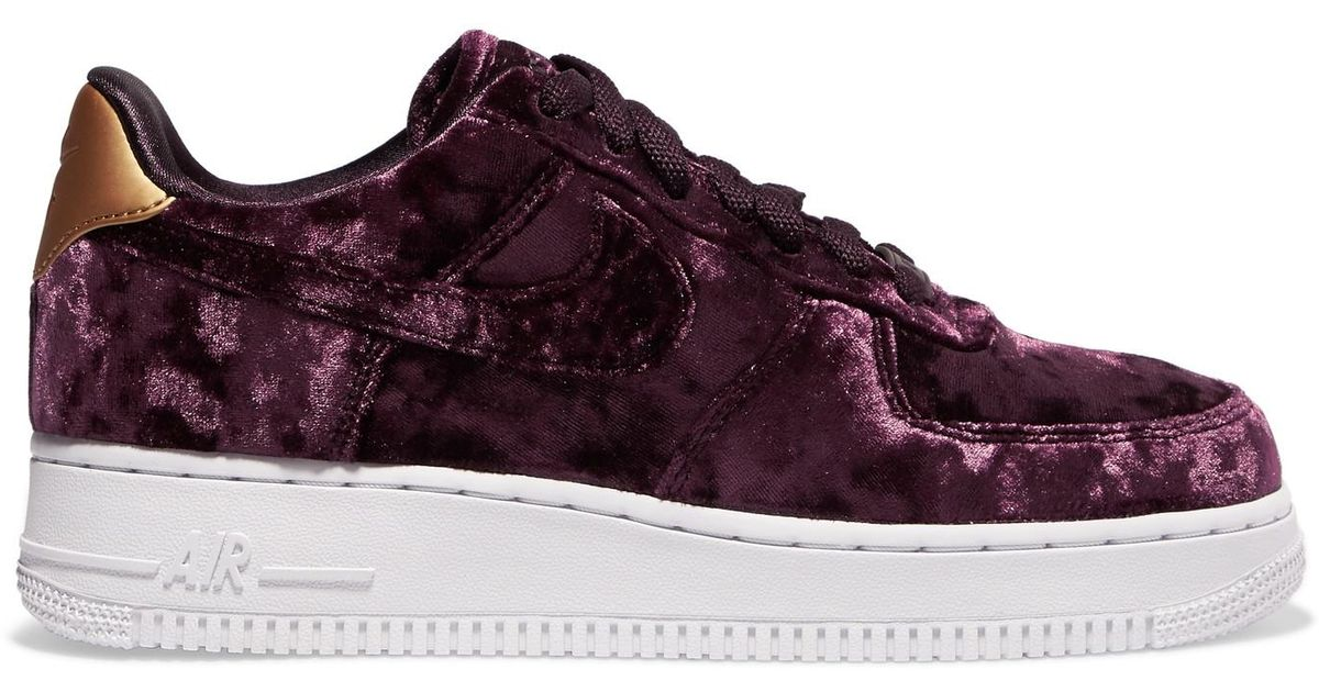 nike air force 1 femme noir velour