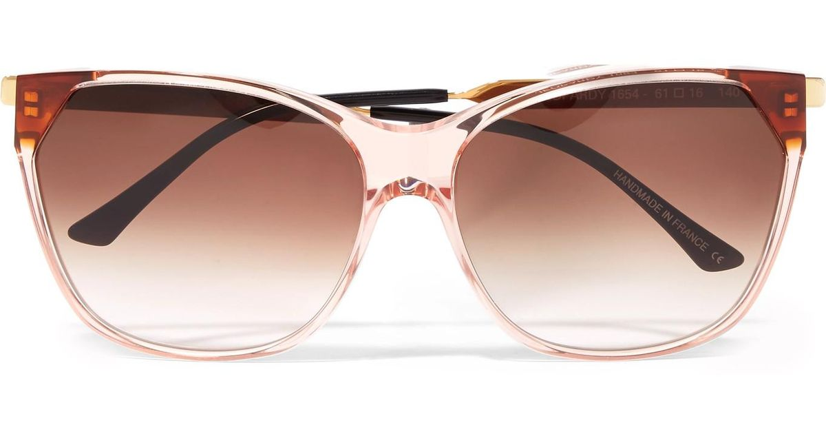 Jeopardy Cat-eye Acetate And Gold-tone Sunglasses - Pink Thierry Lasry MLIT5