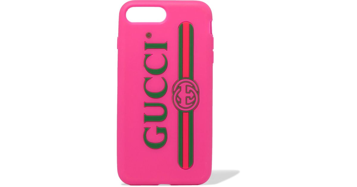 the best attitude 2022c 35bcf Gucci Pink Silicone Iphone 7 And 8 Plus Case