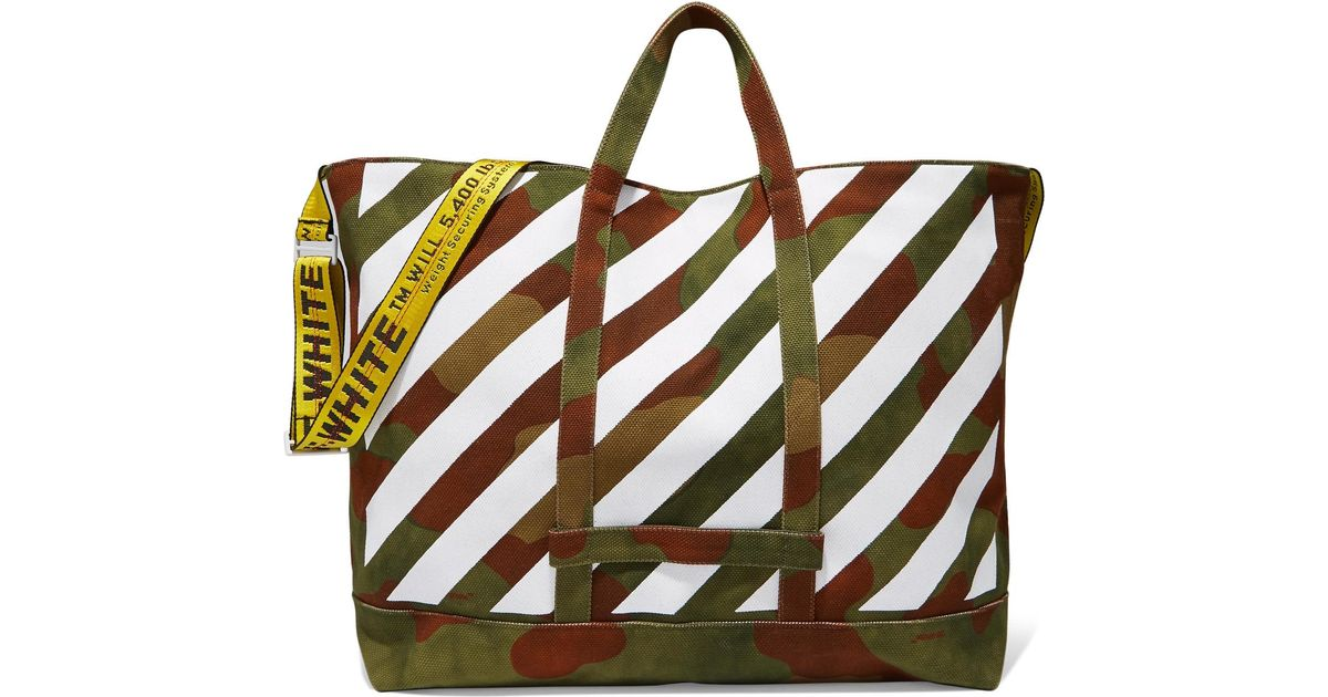 Discount Visit Clearance Amazing Price Canvas tote bag Off-white Outlet Shop For 2n4N7CN