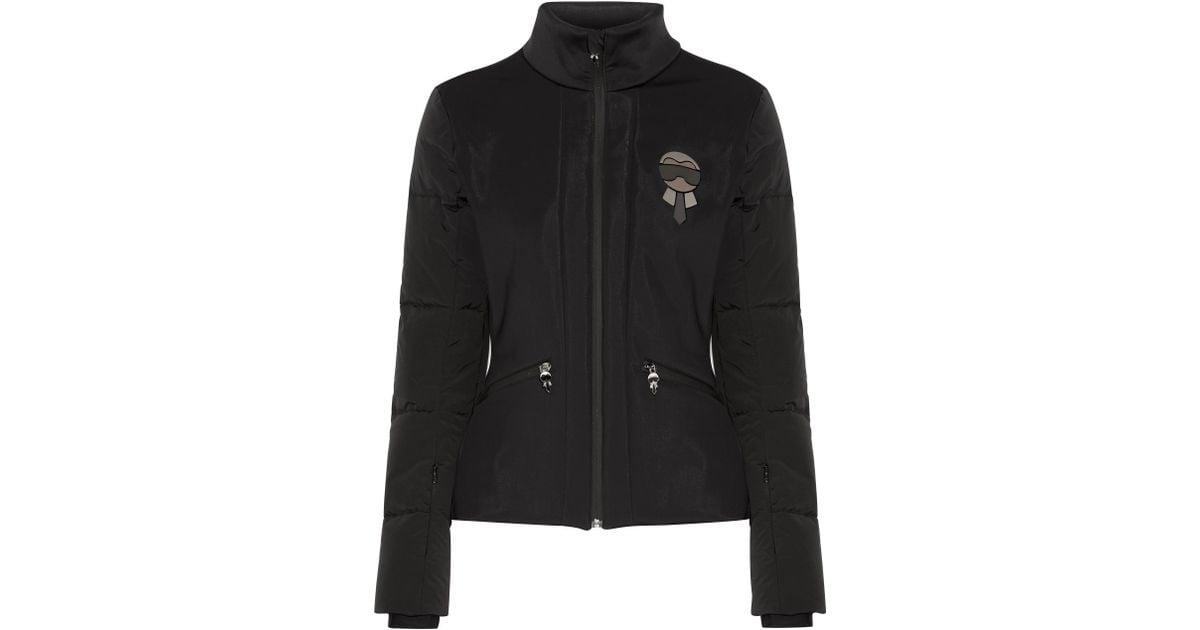 Lyst - Fendi Karlito Embellished Quilted Down Ski Jacket in Black 86e31c9c4