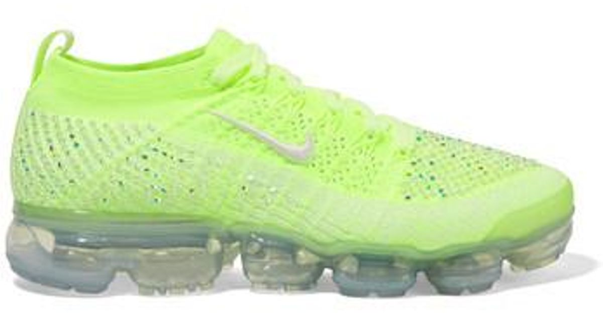 low cost 6e383 7f936 Nike Green Air Vapormax 2 Swarovski Crystal-embellished Flyknit Sneakers