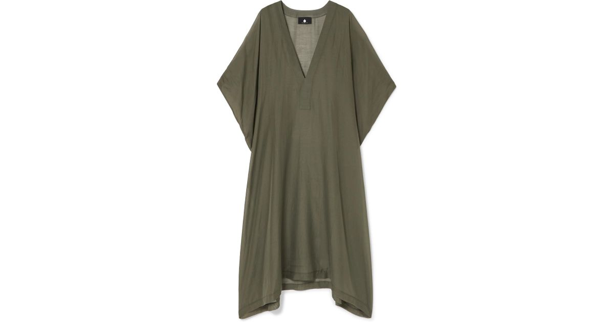 Yuma Cotton And Silk-blend Voile Kaftan - Army green SU PARIS Aberdeen Cheap Sale 2018 Factory Price Buy Cheap Get To Buy o1i7fT