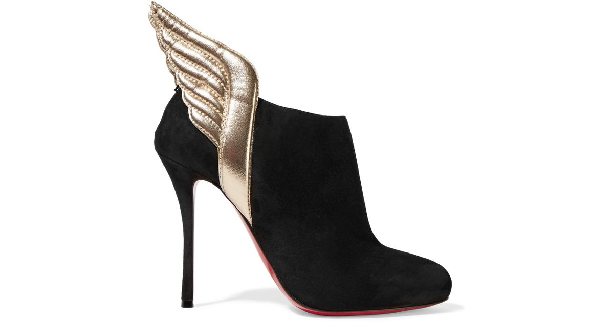 ed7f6137a79 Christian Louboutin Black Mercura Wing 100mm Red Sole Bootie