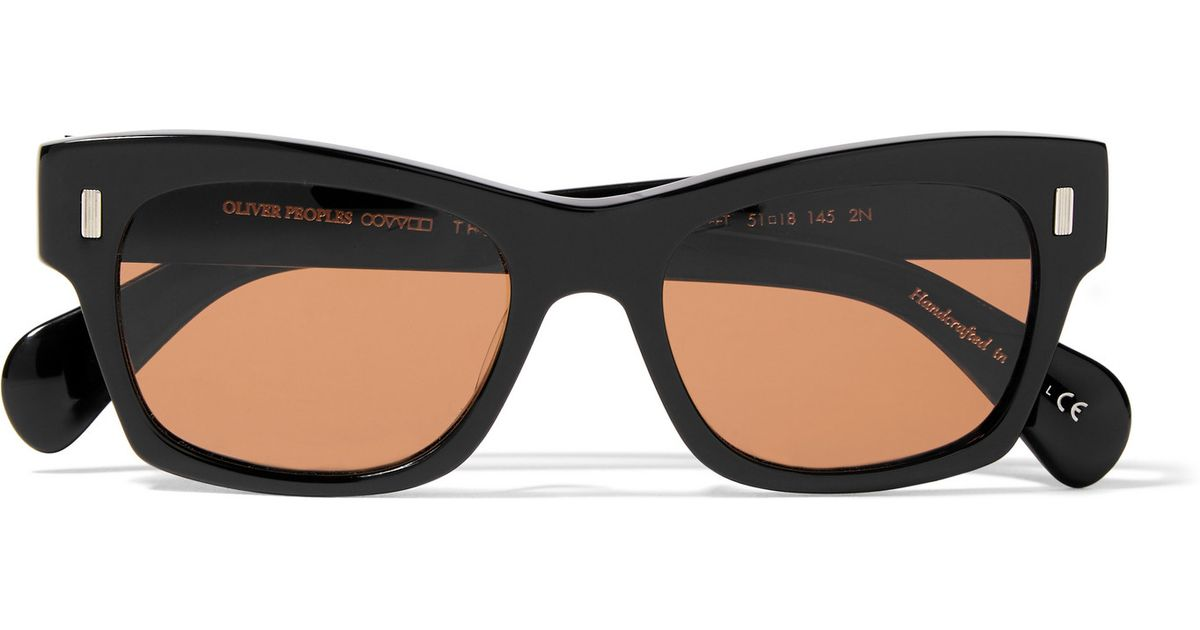 d9a11f1890 Oliver Peoples + The Row 71st Street Wayfarer-style Acetate Sunglasses in  Black - Lyst