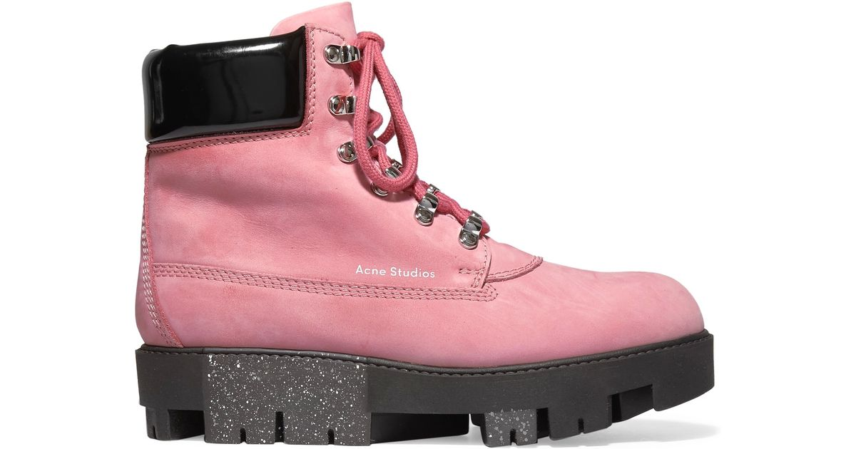 4476537aa02 Acne Studios Multicolor - 'telde' Hiking Boots - Women - Leather/patent  Leather/rubber - 39