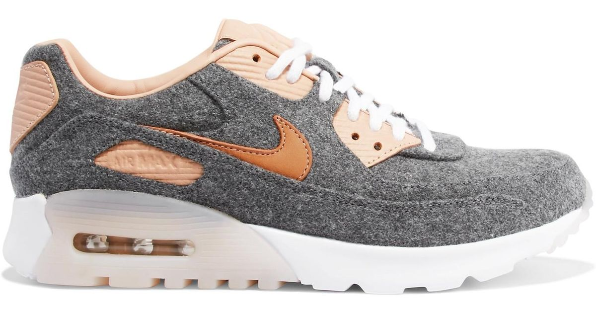 purchase cheap ab8b1 2d217 Lyst - Nike Air Max 90 Ultra Premium Leather-trimmed Felt Sn