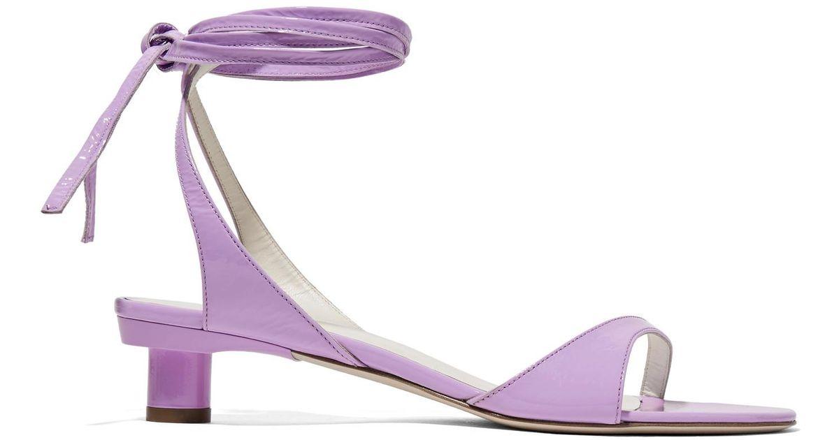 eaab82aea7e3 Tibi Scott Crinkled Patent-leather Sandals in Purple - Lyst