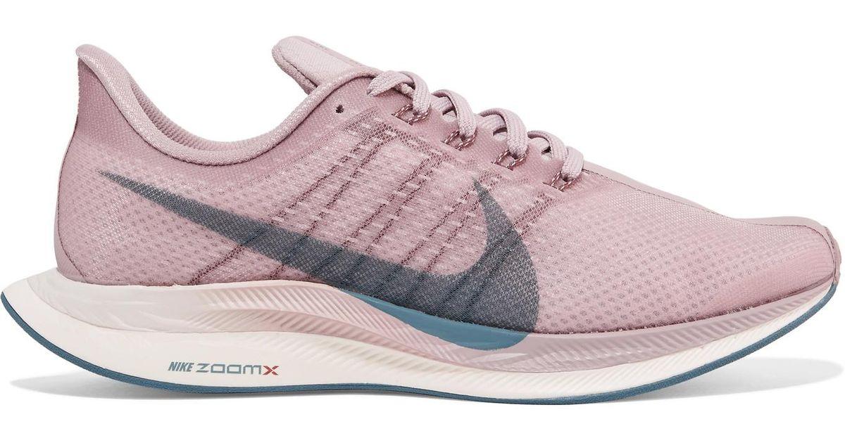 a554cf00b751 Lyst - Nike Zoom Pegasus 35 Turbo Mesh Sneakers in Purple