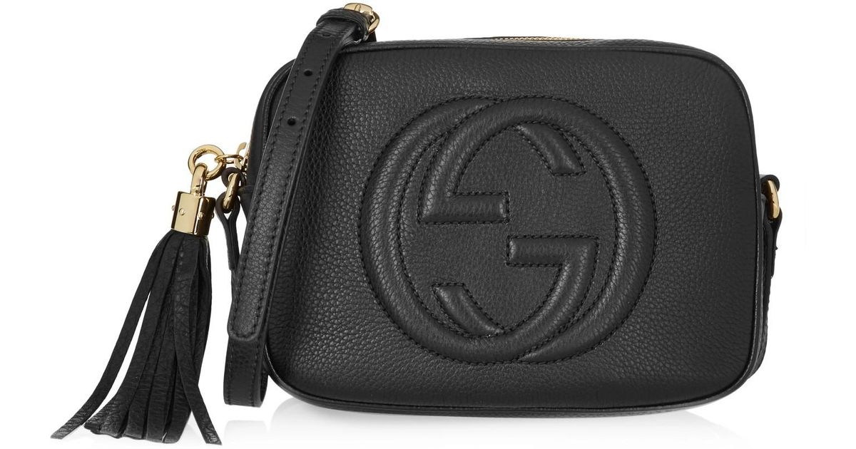 4d82ba56903 Lyst - Gucci Soho Small Leather Disco Bag in Black