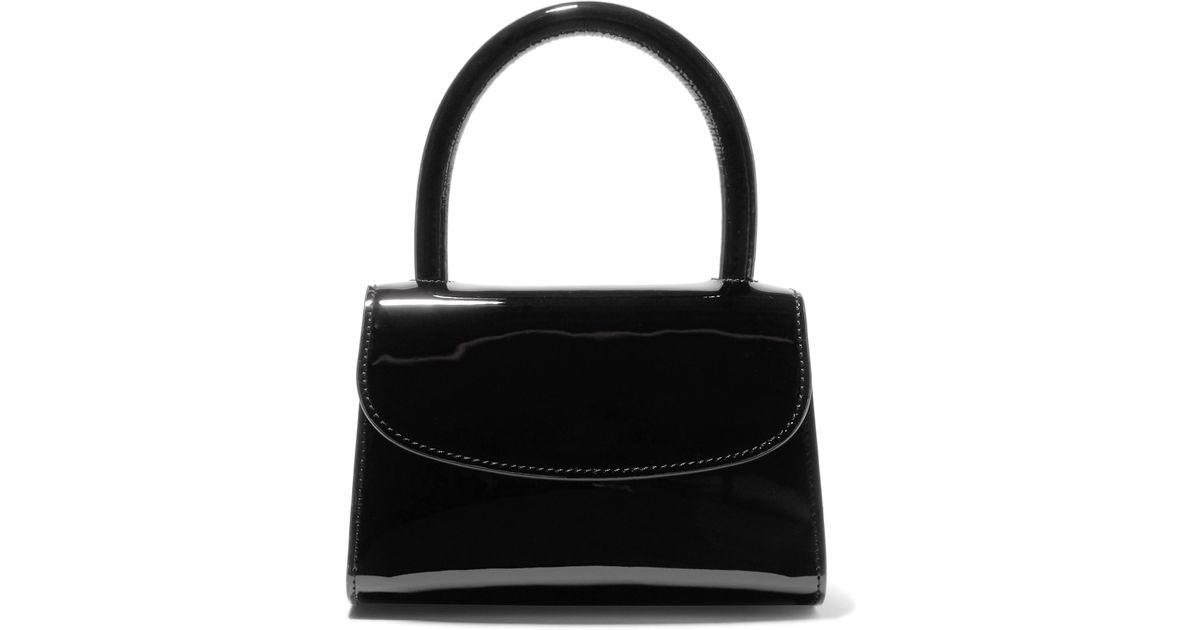 c27f46308b36d BY FAR Mini Patent-leather Tote in Black - Lyst