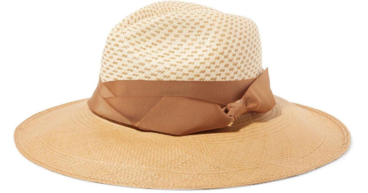 2ac796974 Sensi Studio Natural Two-tone Toquilla Straw Panama Hat