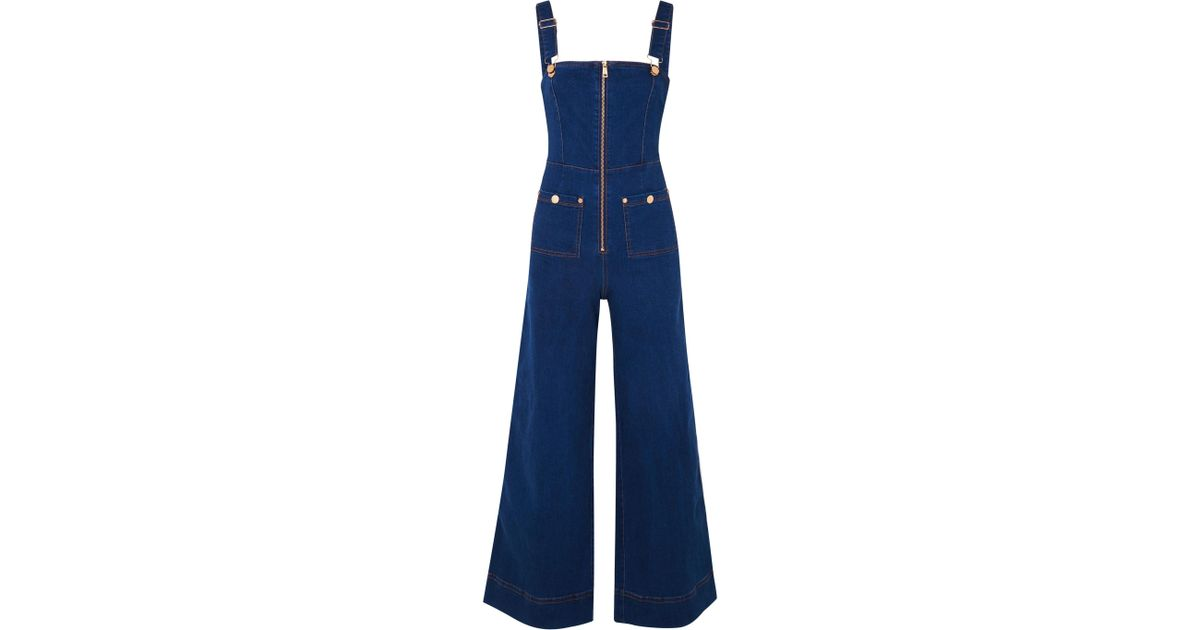 f5d155e452a Alice McCALL Quincy Denim Overalls in Blue - Save 26% - Lyst