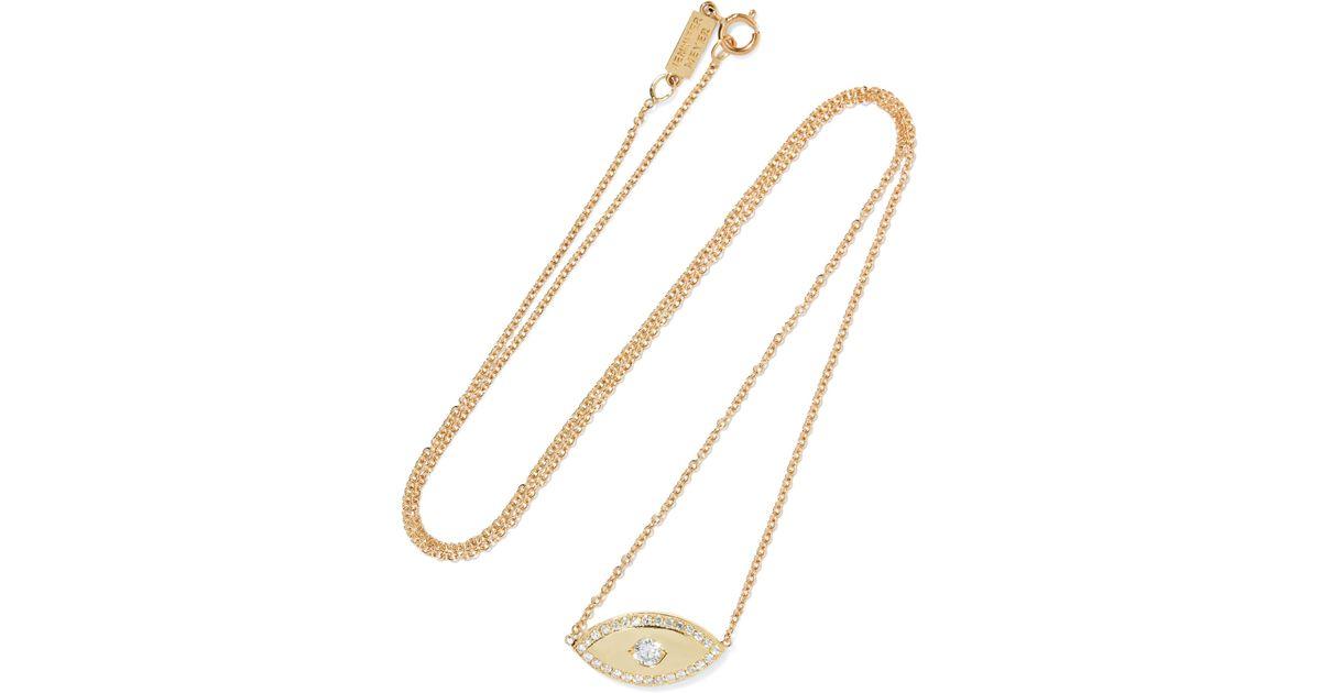 Jennifer Meyer 18-karat Gold, Diamond And Opal Necklace