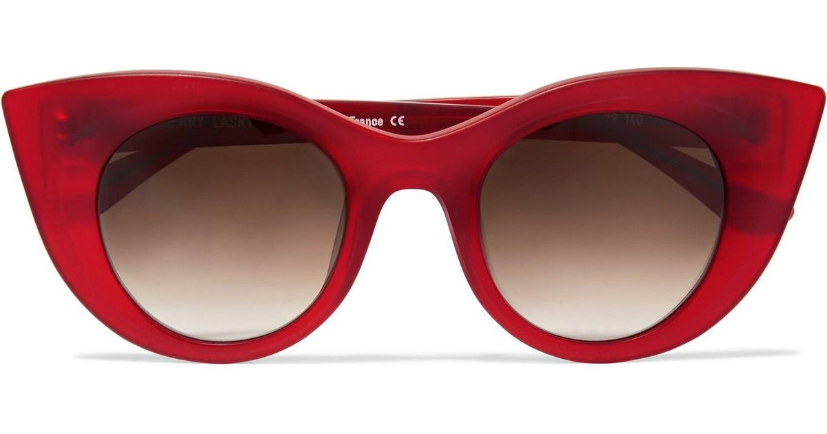 Hedony Cat-eye Acetate Sunglasses - Red Thierry Lasry xhjhh