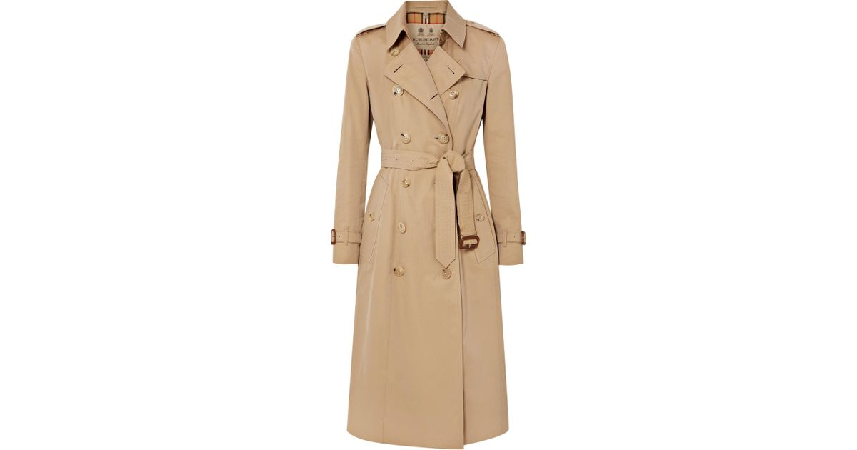 d971baa1449a Lyst - Trench-coat En Gabardine De Coton The Chelsea Long Burberry en  coloris Neutre