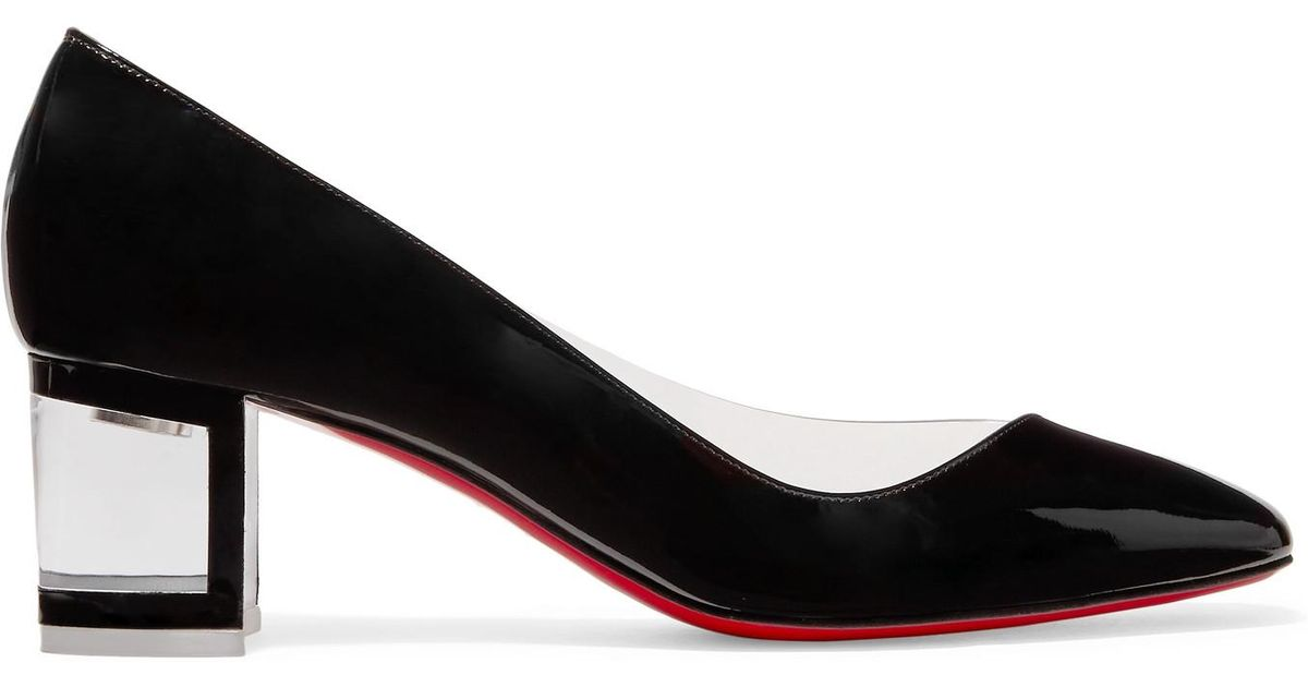 394c1710d49 Christian Louboutin Black Provisore 55 Patent-leather And Pvc Pumps