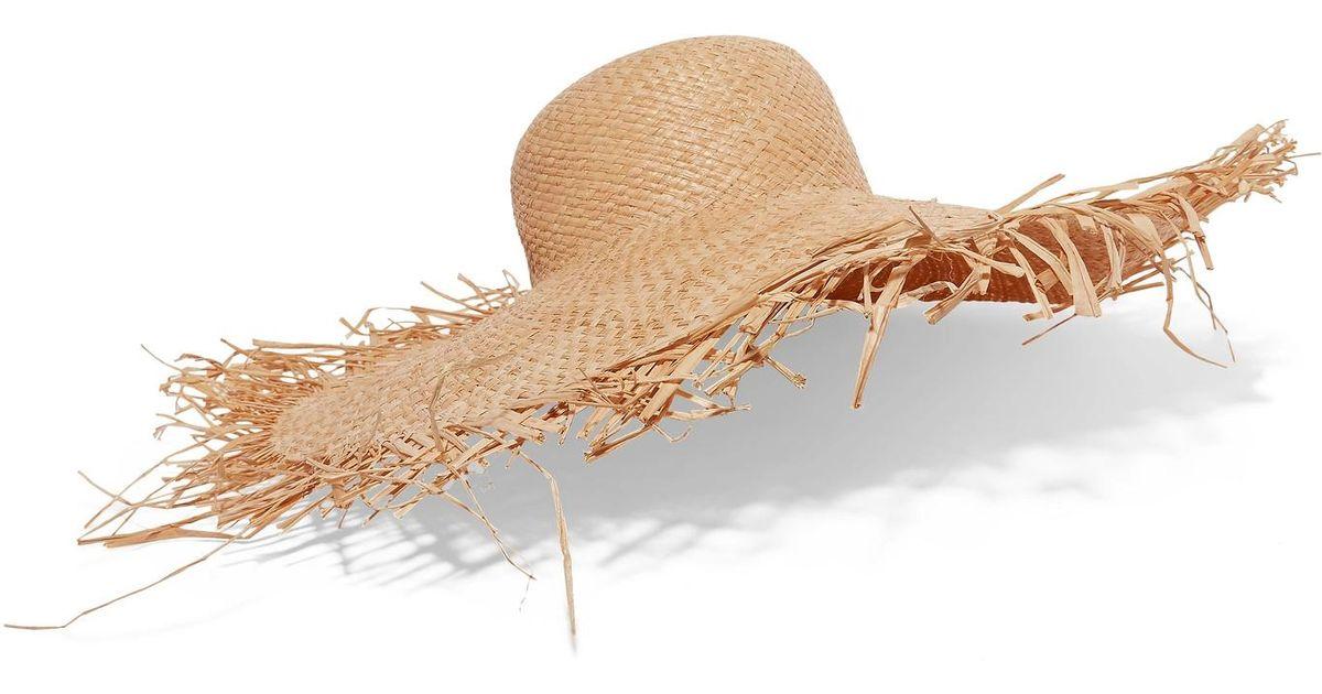 adbb68dea Clyde White Frayed Straw Hat