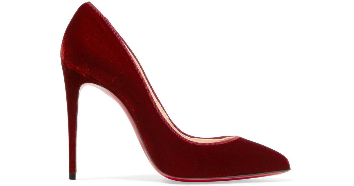 new concept 470f8 41d75 Christian Louboutin Red Pigalle Follies 100 Velvet Pumps
