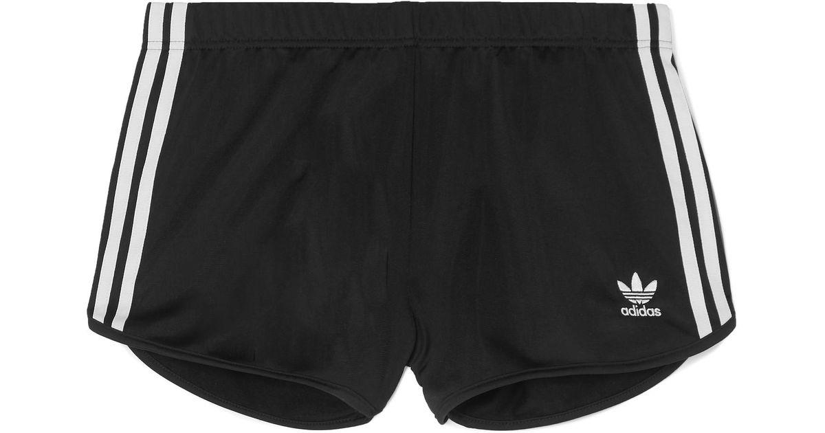 37290bd172 adidas Originals Striped Satin-jersey Shorts in Black - Lyst