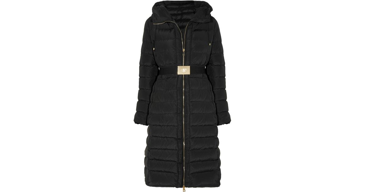 d6d8c9948 Moncler Black Imin Belted Quilted Shell Down Coat