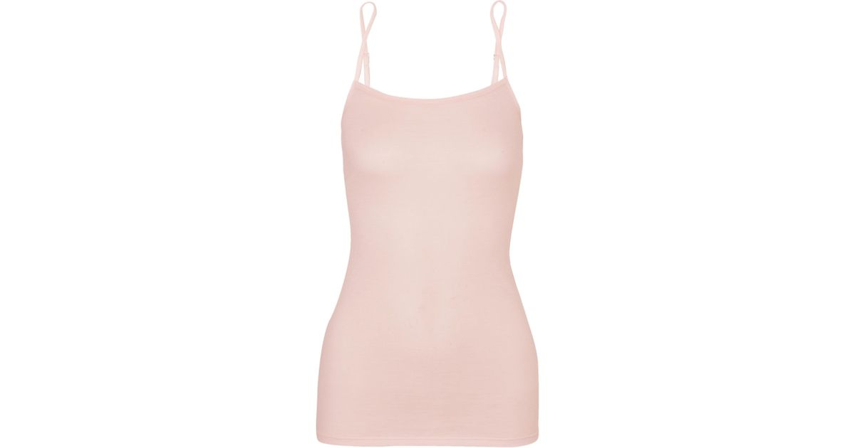 Ultralight Cotton-jersey Camisole - Pastel pink Hanro Sale Wide Range Of RcJpa1bBmd