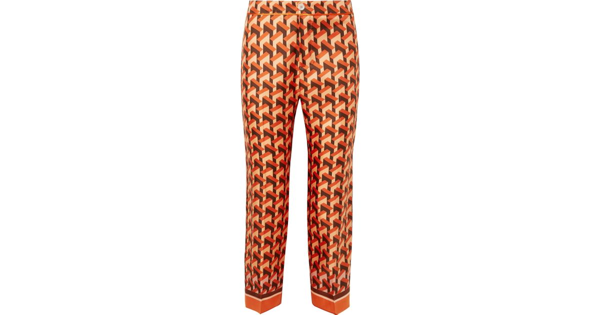 Etere printed silk trousers F.R.S. For Restless Sleepers Reliable Online Latest Collections Sale Online Cheap Sale Best Seller Cheap Inexpensive ZGMn52r4