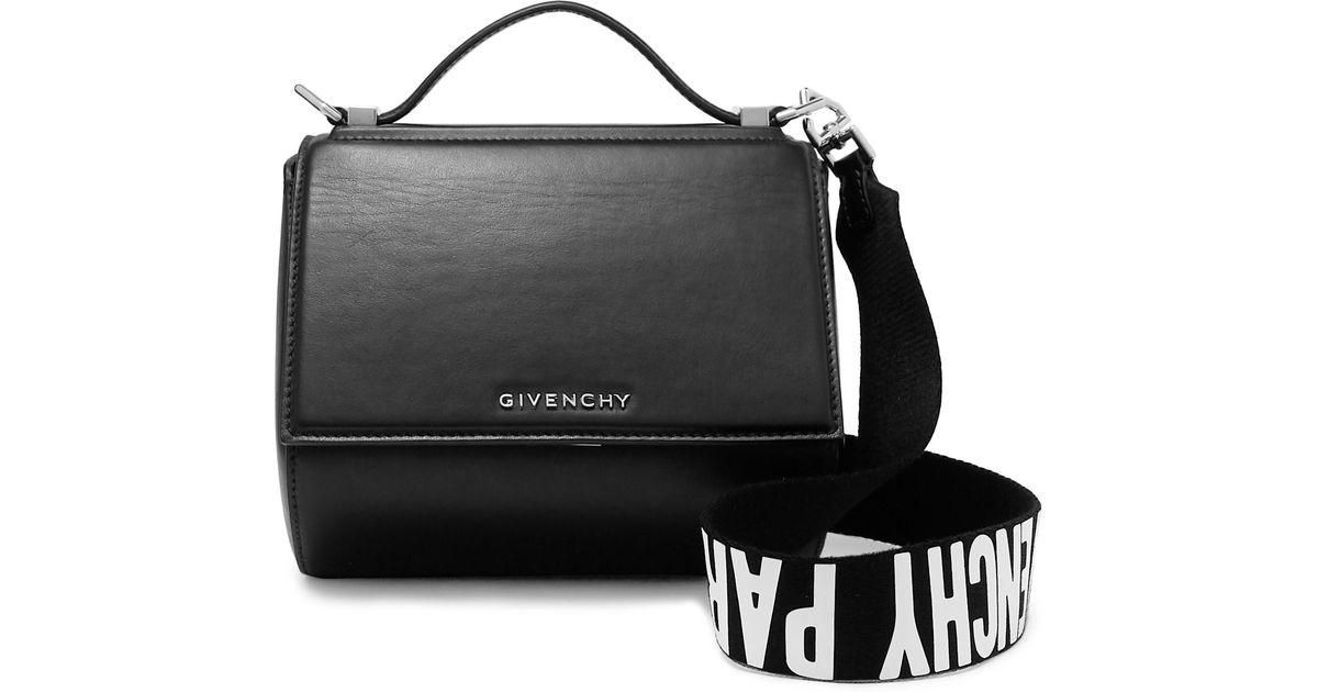 b180056e43b Lyst - Sac Porté Épaule En Cuir Pandora Box Mini Givenchy en coloris Noir