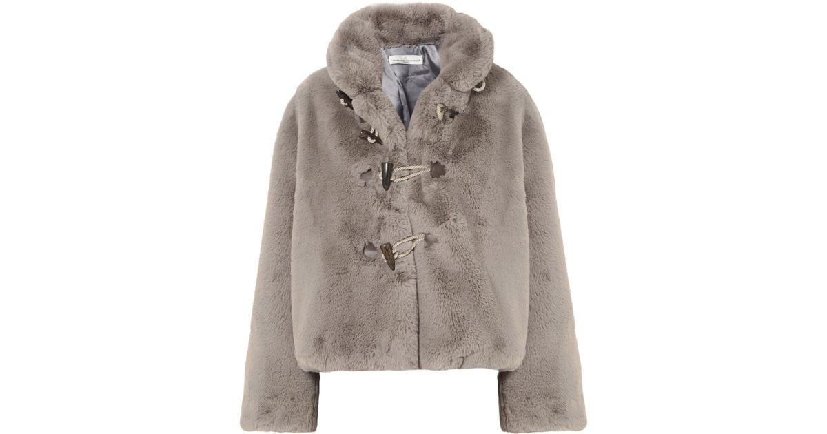 a4ee22107de4 Lyst - Golden Goose Deluxe Brand Faux Fur Satin Lined Jacket in Gray