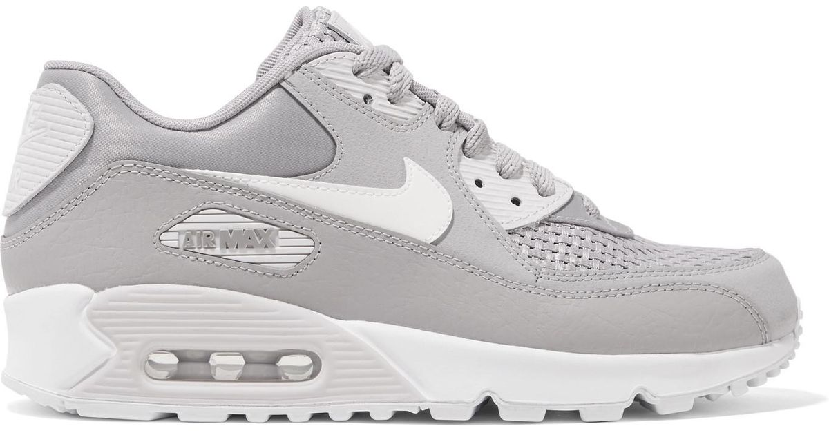 new styles 49338 1e8fa Lyst - Nike Air Max 90 Se Stretch-knit, Suede, Leather And Mesh Sneakers in  Gray