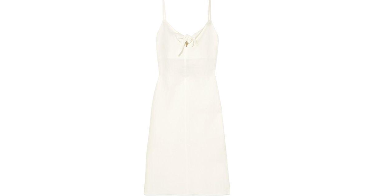 Oriska Tie-front Linen Midi Dress - Cream Simon Miller Online Store Huge Surprise Cheap Online vIEtJ