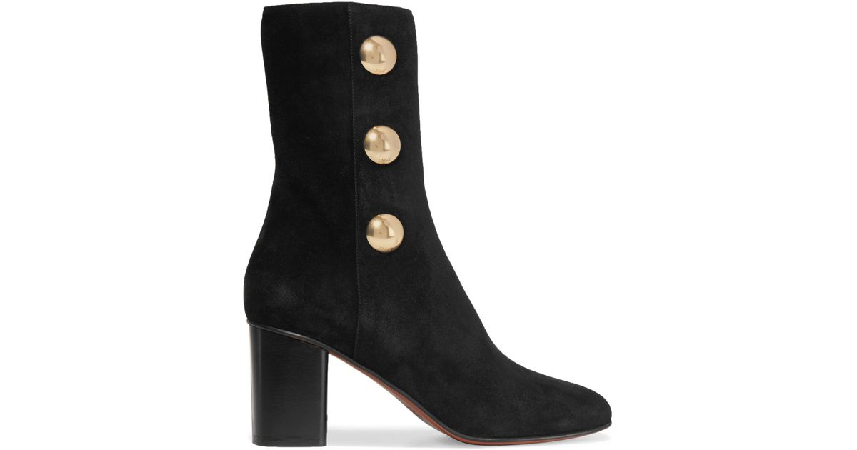 authentic for sale sale online shopping Chloé Embellished Suede Ankle Boots footlocker pictures for sale clearance with mastercard browse cheap price HmLd4