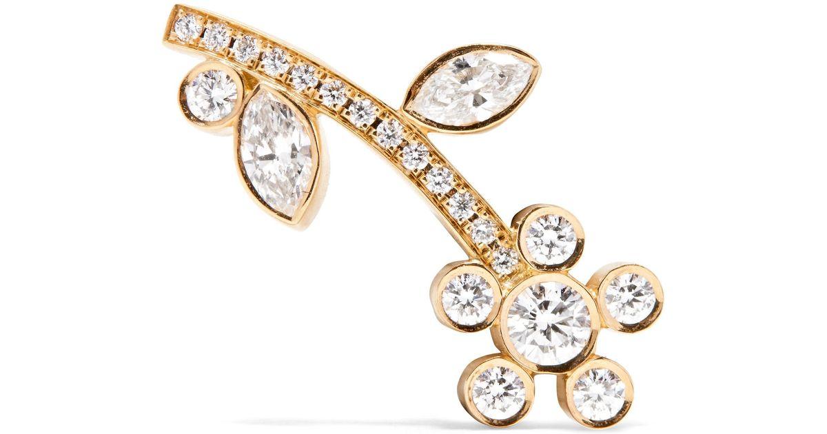 Croissant Amelia 18-karat Gold Diamond Earring - one size Sophie Bille Brahe AieSuH