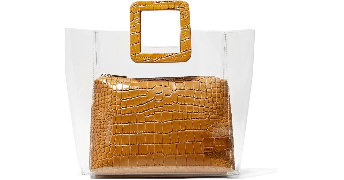 3b45cc3729b7c Lyst - STAUD Shirley Croc-effect Leather And Pvc Tote