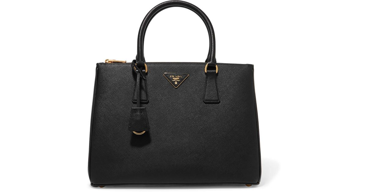 6d73f2e5929c Lyst - Prada Galleria Large Textured-Leather Tote in Black