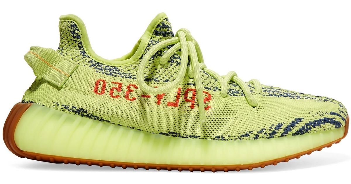 2b94beebb6d64 adidas Originals Yeezy Boost 350 V2 Zebra-intarsia Primeknit Sneakers in  Yellow - Lyst