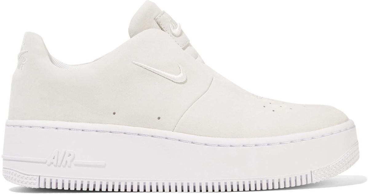 Air Force 1 Sage Suede Slip-on Sneakers