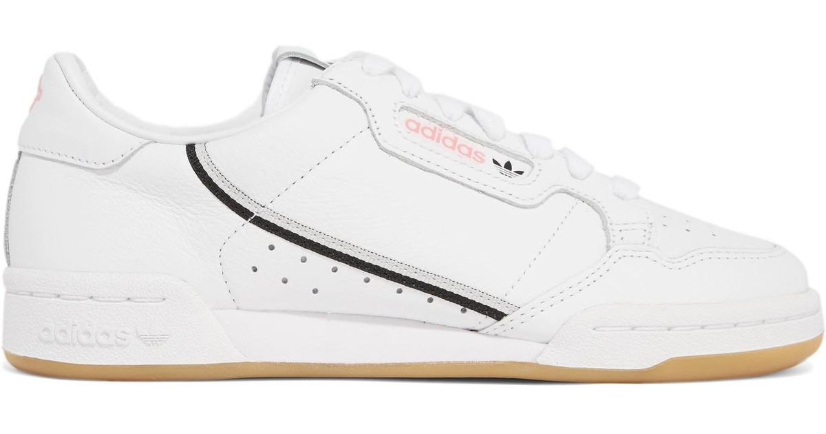 d87e140ff505 adidas Originals + Tfl Continental 80 Canvas-trimmed Leather Sneakers in  White - Lyst