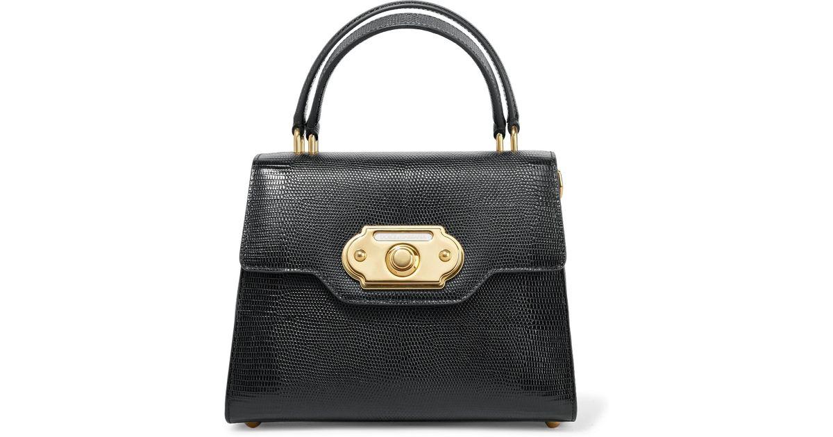 Gabbana In Leather Dolce Lizard Medium amp; Lyst Tote Welcome Effect A7Wqw1W4Pc