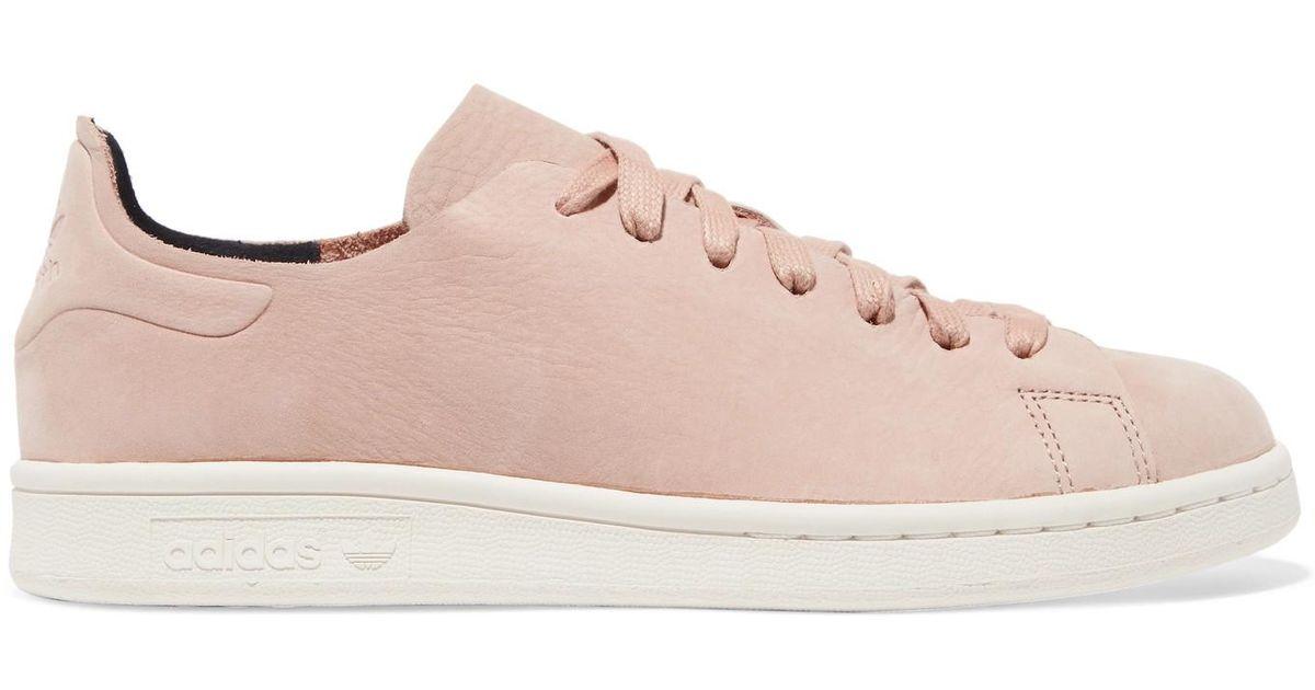 reputable site ae938 6cbab Adidas Originals Pink Stan Smith Nuud Nubuck Sneakers