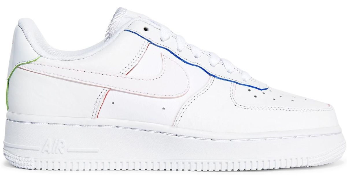 Nike White Air Force 1 Smooth And Textured leather Sneakers